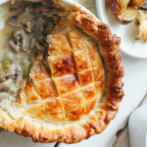 Leek & Mushroom Pie